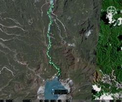 Mt. Pinatubo GPS Tracks on Google Earth